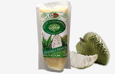 Soursop Fruit Pulp with Aloe Vera
